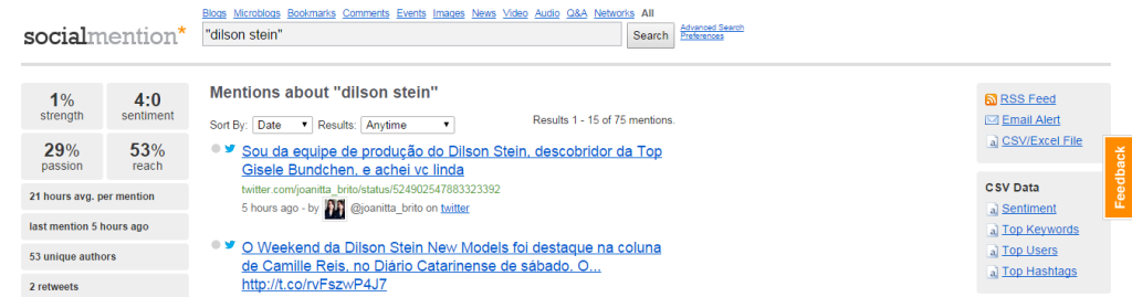 dilson stein    Social Mention search